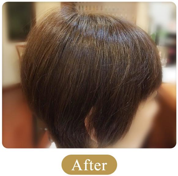30代 女性 400本増毛例「増毛エクステンション」の施術後