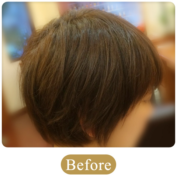 30代 女性 400本増毛例「増毛エクステンション」の施術前